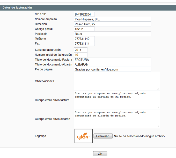 facturación de pedidos en backoffice portal de soporte ylos helpdesk
